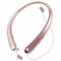 Bluetooth Headphones Retractable Wireless Earbuds Neckband Headset Sports Noise Cancelling Stereo Earphones with Mic by Viceting (15 Hrs Playtime, Call Vibrate Aler, Rose Gold)