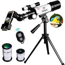 Gskyer AZ60350 Travel Refractor Astronomy Telescope with Wireless Remote Control