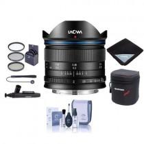 Venus Laowa 7.5mm f/2 Lens for Micro Four Thirds Mount, Black - Bundle with 46mm Filter Kit, Lens Case, Cleaning Kit, Lens Wrap, Capleash II, LensPen Lens Cleaner