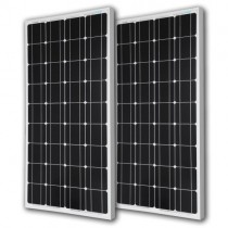 Renogy 2 Pieces 100W Monocrystalline Photovoltaic PV Solar Panel Module, 12V Battery Charging