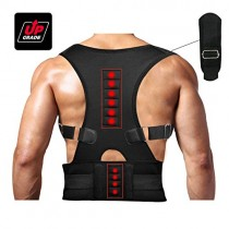 Magnetic Therapy Posture Support Back Brace -FDA Approved Medical Grade Adjustable Posture Corrector Brace Shoulder Back Support Belt- Relieves Neck, Back and Spine Pain (XL)