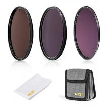 NiSi 67mm Circular Filter ND Filter Kit, Including ND8(3 Stops), ND64(6 Stops)+CPL, ND1000(10 Stops) and Filter Pouch