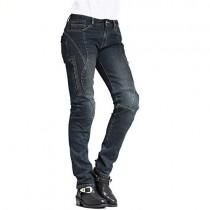 MAXLER JEAN Biker Jeans for women Motorcycle Motorbike riding Jeans 607 Blue 26
