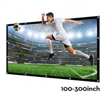 Projector Screen 140 Inch 16:9 NIERBO Portable Movies Screen HD Projection Screen for Home Indoor Outdoor