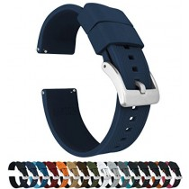 24mm Navy Blue - Barton Elite Silicone Watch Bands - Quick Release - Choose Strap Color & Width