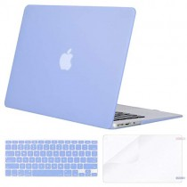 MOSISO Plastic Hard Case & Keyboard Cover & Screen Protector Only Compatible MacBook Air 13 Inch (Models: A1369 & A1466, Older Version 2010-2017 Release), Serenity Blue