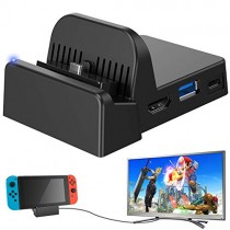 Ponkor Nintendo Switch Dock, Mini Portable Switch Docking Station HDMI 4K TV Adapter Switch Charger Dock Set Ideal Replacement for Official Nintendo Switch Charging Dock
