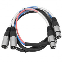 Seismic Audio - SARLX-2x5-2 Channel XLR Color Coded Multi-Patch Snake Cable 5 Feet - Pro Audio
