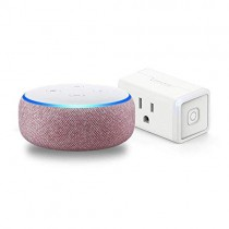Echo Dot (3rd Gen) Plum Bundle with TP-Link simple set up smart plug
