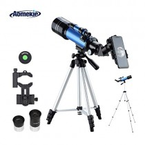 Aomekie Kids Telescope for Adults Astronomy Beginners 70mm Refractor Telescopes with Adjustable 51inch Tripod Phone Adapter Finderscope Erect-Image Diagonal and Moon Filter