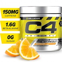 Cellucor C4 Original Pre Workout Powder Energy Drink w/Creatine, Nitric Oxide & Beta Alanine, Orange Burst, 30 Servings