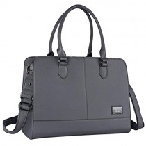 MOSISO Women Laptop Tote Bag (Up to 15.6 Inch) 3 Layer Compartments, Space Gray