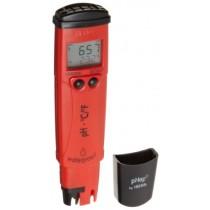 "Hanna Instruments HI98128 pHep 5pH/Temperature Tester, 6-25/64"" Length x 1-19/32"" Width x 1"" Height"
