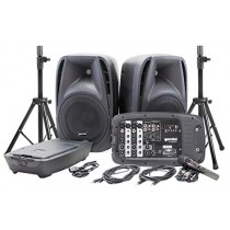 Gemini ES-210MXBLU-ST Bluetooth Portable PA System With Detachable Powered Mixer