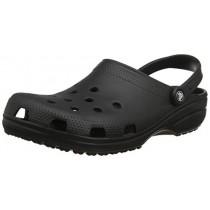 Crocs Men's and Women's Classic Clog, Comfort Slip On Casual Water Shoe, Lightweight, Black, 17 US Women / 15 US Men