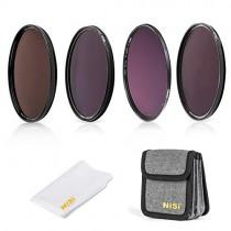 NiSi 82mm Circular Filter Long Exposure Kit, Including ND8(3 Stops), ND64(6 Stops)+CPL, ND1000(10 Stops), ND32000(15 Stops) and Filter Pouch