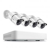 ZOSI 5MP Security Cameras System,8 Channel 5.0MP (2.5 X 1080P) Surveillance DVR with 1TB Hard Drive and (4) 5.0MP 1920p (2560TVL) Weatherproof Bullet CCTV Cameras 100ft Night Vision