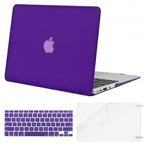 MOSISO Plastic Hard Case & Keyboard Cover & Screen Protector Only Compatible MacBook Air 13 Inch (Models: A1369 & A1466, Older Version 2010-2017 Release), Ultra Violet