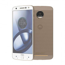 Moto Z Unlocked Smartphone, 5.5in Quad HD screen, 64GB storage, 5.2mm thin - Fine Gold White - 64GB (International model) (Renewed)