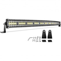 "LED Light Bar 52"" Curved 750W Triple Row DWVO 50000LM Upgrade Chipset Led Work Light for Off Road Driving Fog Lamp Marine Boating IP68 WATERPROOF Spot & Flood Combo Beam Light Bars, 2 Year Warranty"