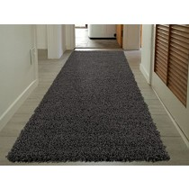 """Cozy Shag Collection Charcoal Gray  Solid Shag Rug (2'0""""X4'11"""") Contemporary Living and Bedroom Soft Shaggy Runner Rug"""