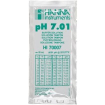 Hanna Instruments HI 70007P Buffer Solution, 7.01 pH, 20mL Sachet, Pack of 25