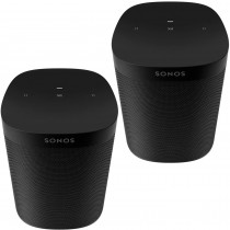 Two Room Set Sonos One SL - The Powerful Microphone-Free Speaker for Music and More - Black