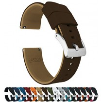 24mm Brown/Khaki - Barton Elite Silicone Watch Bands - Quick Release - Choose Strap Color & Width
