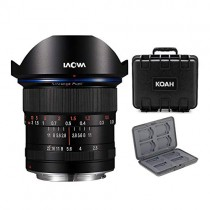 Venus Optics Laowa 12mm f/2.8 Zero-D Lens for Canon EF (Black) with Hardcase Bundle (3 Items)