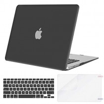 MOSISO Plastic Hard Shell Case & Keyboard Cover & Screen Protector Only Compatible with MacBook Air 13 inch (Models: A1369 & A1466, Older Version 2010-2017 Release), Space Gray