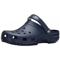 Crocs Men's and Women's Classic Clog, Comfort Slip On Casual Water Shoe, Lightweight, Navy, 12 US Women / 10 US Men