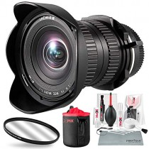 Venus Optics Laowa 15mm f/4 Macro Lens for Canon EF with Xpix Lens Pouch and Deluxe Cleaning Kit Accessory Bundle