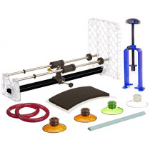 Creator's Bottle Cutter - Ultimate Suite Edition W/Blue Bottle Neck Cutter - Set of 4 Glastoppers - Abrasive Stone - Google Rated Number 1 Best DIY Bottle Cuttting System Worldwide - Made in The USA