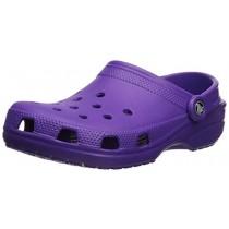 Crocs Men's and Women's Classic Clog, Comfort Slip On Casual Water Shoe, Lightweight, Neon Purple, 6 US Women / 4 US Men