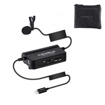 Comica CVM-SIG V05 MI Omnidirectional Lavalier Lapel Microphone Portable Clip-on Mic with MFI Certified for iPhone with Lightning Interface Compatible with iPhone, iPad, iPod and More