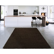 """Sweet Home Stores Cozy Shag Collection Solid Shag Rug Contemporary Living & Bedroom Soft Shaggy Area Rug, 60"""" L x 84"""" W, Brown"""