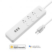 Koogeek Smart Power Strip, WiFi Surge Protector with 5ft cord Works with Apple HomeKit, Alexa & Google Assistant, 3 Outlets with 3 USB Charging Ports Individual Control, Timers, no hub required
