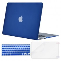MOSISO Plastic Hard Case & Keyboard Cover & Screen Protector Only Compatible MacBook Air 13 Inch (Models: A1369 & A1466, Older Version 2010-2017 Release), Royal Blue