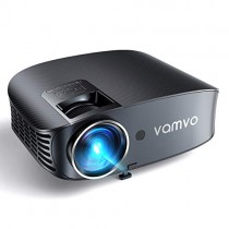 "Video Projector, Outdoor Movie Projector with 200"" Projection Size, vamvo Home Theater Projector with Platform Pallet, Support 1080P, Compatible with Fire TV Stick, PS4, HDMI, VGA, AV and USB 3600L"