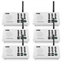 Wuloo Intercoms Wireless for Home 5280 Feet Range 10 Channel 3 Code, Wireless Intercom System for Home House Business Office, Room to Room Intercom, Home Communication System (6 Packs, White)