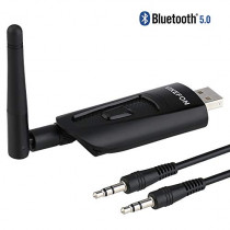 VIKEFON Aptx Low Latency USB Bluetooth Audio Transmitter Adapter for TV PC Laptop Mac PS4 Nintendo Switch, Wireless Audio Dongle with Antenna Pair 2 Headphones Simultaneously No Lip Sync Delay