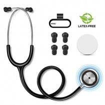 FITA Dual Head Stethoscope Latex-Free PVC Tubing Tunable Chestpiece Classic Stethoscopes with Replacement Eartips and Diaphragm for Nurses and Doctors, Clinic and Home Use - 28inch