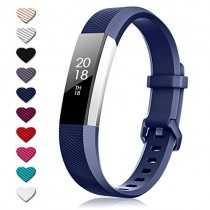 TreasureMax for Fitbit Alta Bands and Fitbit Alta HR Bands, Adjustable Soft Silicone Sports Replacement Accessories Bands for Fitbit Alta HR/Fitbit Ace,Women/Men (NavyBlue, Large(6.7-8.1 Inch))