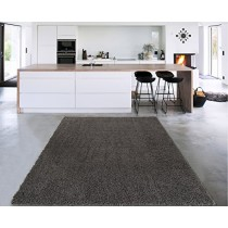 """Sweet Home Stores Cozy Shag Collection Solid Shag Rug Contemporary Living & Bedroom Soft Shaggy Area Rug, 3'3"""" L x 5'0"""" W, Charcoal Grey"""