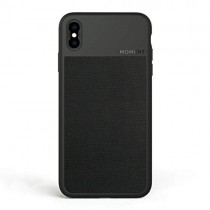 Moment Protective iPhone Xs Case - Durable Wrist Strap Friendly Case for Photography and Camera Lovers (Black Canvas)