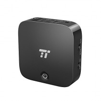 TaoTronics Bluetooth 5.0 Transmitter and Receiver, Digital Optical TOSLINK and 3.5mm Wireless Audio Adapter for TV/Home Stereo System - aptX Low Latency