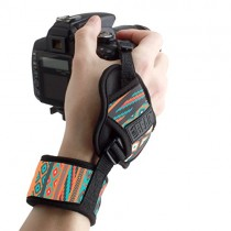 USA GEAR Professional Camera Grip Hand Strap with Southwest Neoprene Design and Metal Plate - Compatible with Canon , Fujifilm , Nikon , Sony and more DSLR , Mirrorless , Point & Shoot Cameras