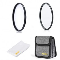 NiSi 82mm Circular Filter Starter Kit, Including HUC UV Filter, HUC CPL and Filter Pouch
