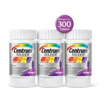 Centrum Silver Women, Multivitamin/Multimineral Supplement Tablet, Vitamin D3, Age 50+, 100 Count, Pack of 3