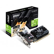 MSI Gaming GeForce GT 710 1GB GDRR5 32-bit HDCP Support DirectX 12 OpenGL 4.5 Single Fan Low Profile Graphics Card (GT 710 2GD3H LP)